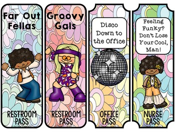 Seventies {70's} Theme Decor Pack