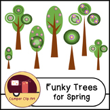 Retro Trees for Spring Clip Art {Commercial Use OK!} sprin