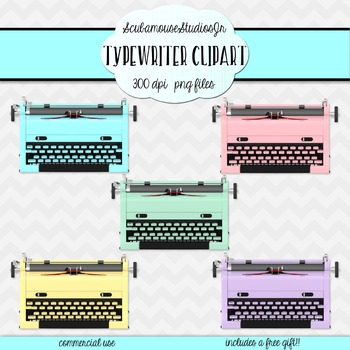 Retro Typewriter Clipart