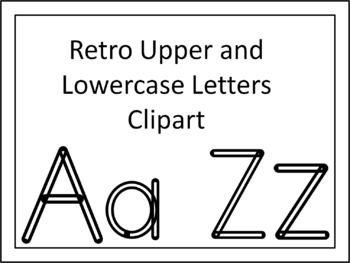 Retro Upper And Lowercase Letters Clipart