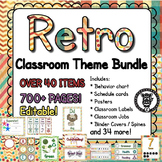 Classroom Theme Decor / Organization - Mega Bundle - Retro / Vintage (Editable)!