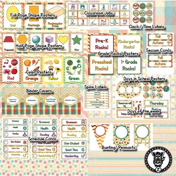 Classroom Theme Decor / Organization - Mega Bundle - Retro / Vintage (Editable)!