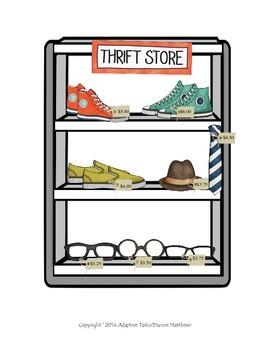 Retro Vintage Thrift Store- Life Skill/Shopping