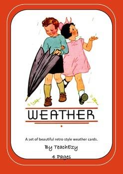 Retro Weather Cards