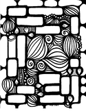 Retro Word Page. Spelling Words. Coloring Page. Fall Fun.