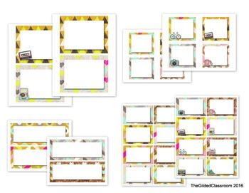 Retro-theme Classroom Decor Bundle