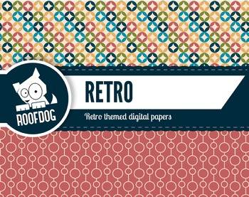 Retro themed digital papers