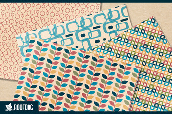 Retro wallpaper style digital paper
