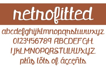 Retrofitted Font for Commercial Use
