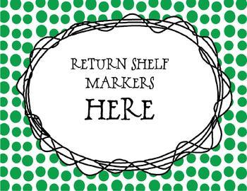 Return Shelf Marker Sign - FREE