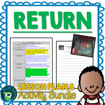 Return by Aaron Becker 4-5 Day Lesson Planner