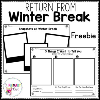 Return from Winter Break Freebie
