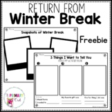 Return from Winter Break Freebie