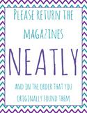 FREEBIE! Classroom Organization -- Magazine Poster Printable