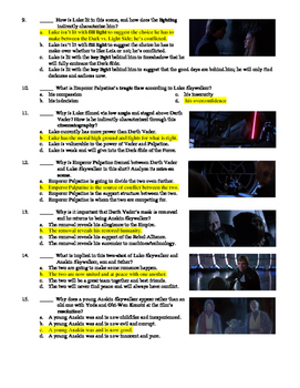 Return of the Jedi Film (1983) 15-Question Multiple Choice Quiz
