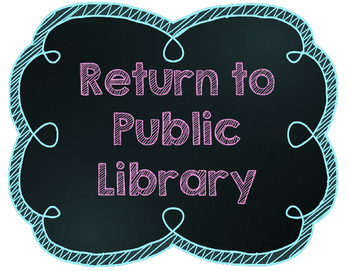 Return to Public Library Sign - Chalkboard Theme