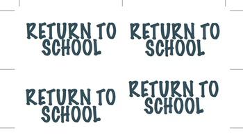 Return to School Labels K-6