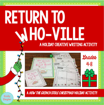 Return to Who-ville: The Grinch Holiday Creative Writing Activity