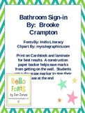 Reusable Bathroom Sign-in Sheet
