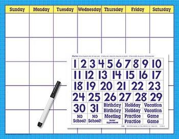Reusable Calendar Cling Kit by Trend