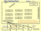 Reusable Classroom seating Chart for SMART Board