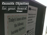 Reusable Objectives for Your Board TEKS English I