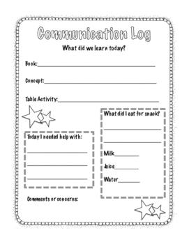Reusable Parent Communication Log