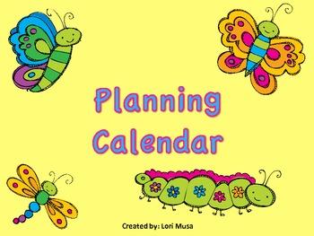 Reusable Planning Calendar