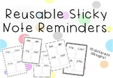 Reusable Sticky Note Reminders