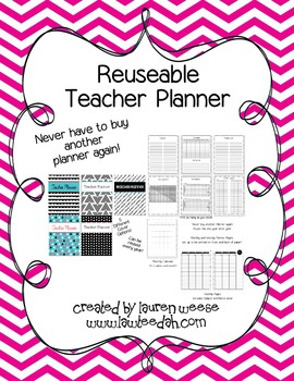 Reusable Teacher Planner