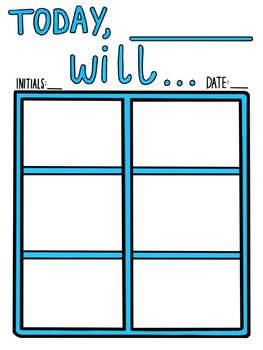 reusable visual schedule template by let s talk language tpt