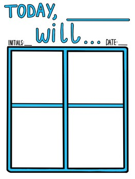 Reusable Visual Schedule Template