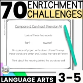 Reusable and Customizable Extension Activities - Grades 3-5 Language Arts Pack
