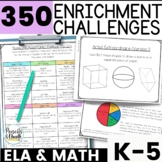 Gifted and Talented Math Activities BUNDLE: K-5