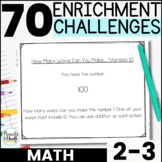 Gifted and Talented Math Enrichment Activities [2nd-3rd Grade]