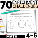 Reusable and Customizable Math Extension Activity Pack - Grades 4-5