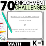 Gifted and Talented Math Enrichment Activities [K-1st] - Printable AND Digital!!