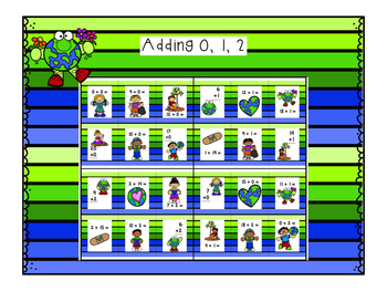 Reusable Earth Day Math Game {Adding and Subtracting 0, 1, 2 within 20}