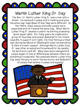 Rev. Dr. Martin Luther King Jr. Day Mini Pack