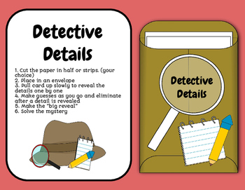 Reveal Cards-Drawing Conclusions