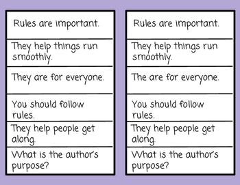 Reveal Cards-Author's Purpose