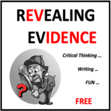 Revealing Evidence Freebie - an ELA game for critical thinking