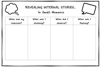 Revealing Internal Stories Graphic Organizer