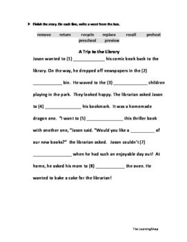 Reveiwing Prefixes Worksheet