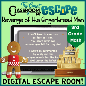 revenge of the gingerbread man digital escape room with third grade rh teacherspayteachers com
