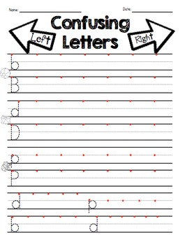 reversal practice b d p letter discrimination worksheets by ms knopf. Black Bedroom Furniture Sets. Home Design Ideas