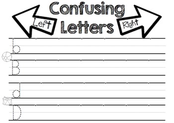 Reversal Practice, B/D/P Letter Discrimination Worksheets