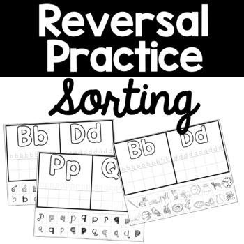 Reversal Sort, Letter Discrimination Cut and Paste Worksheets