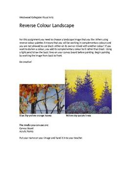 Reverse Colour Landscape