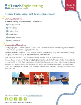 Reverse Engineering: Ball Bounce Experiment